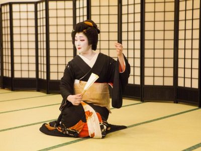 Elegant Geisha Seated